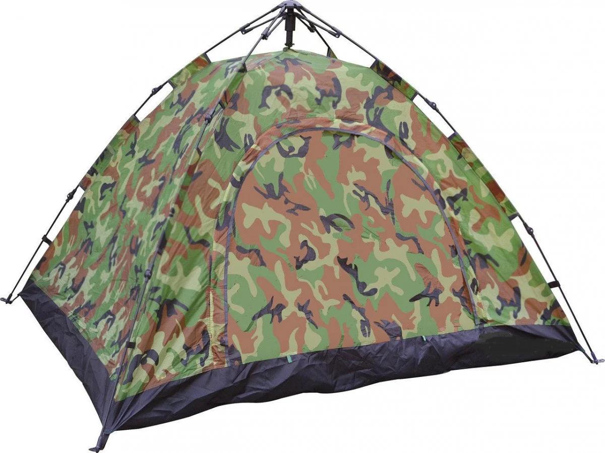 Автоматична похідна палатка захисного кольору 2-х місцева | Намет комуфляжний Smart Camp
