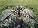 Автоматична похідна палатка захисного кольору 2-х місцева | Намет комуфляжний Smart Camp, фото 4