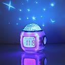 Музичні дитячі годинники з проектором зоряного неба | Нічник YUHAI UI-1038, фото 8