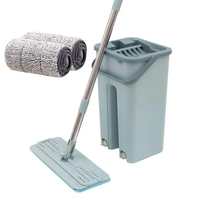 Швабра з відром зі складною ручкою і системою віджимання Supretto Scratch Cleaning Mop