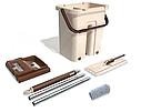 Швабра з відром зі складною ручкою і системою віджимання Supretto Scratch Cleaning Mop, фото 6