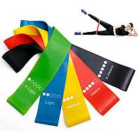 Набор резинок для фитнеса 5 штук | Резинки для фитнеса | Жгуты для спорта Bod Bands, фото 1