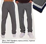 Брюки  мужские утепленные трикотаж-начес, фото 2