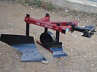 Плуг ПН-1-19 ПР для мототрактора (тяжелого мотоблока) ТМ Миниагротех (предплужник, опорное колесо)