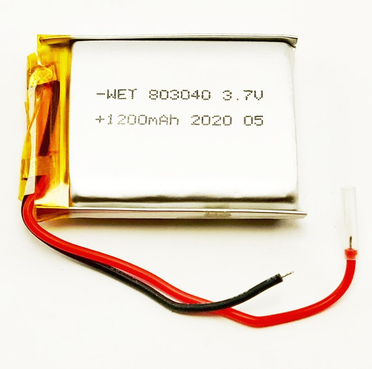 Литий-полимерный аккумулятор Li-pol 803040, 1200mAh 3.7V 1 шт.
