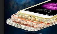 Бампера Swarovski для Iphone 6 6S (серебро) + пленка в подарок, фото 1