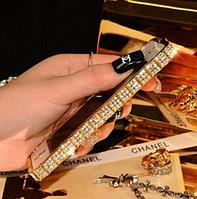 Бампера Swarovski для Iphone 6 6S (золотой) + пленка в подарок, фото 1