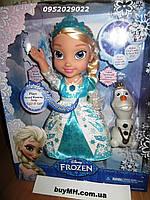 Поющая кукла Эльза Disney Frozen Snow Glow Elsa Оригинал США, фото 1