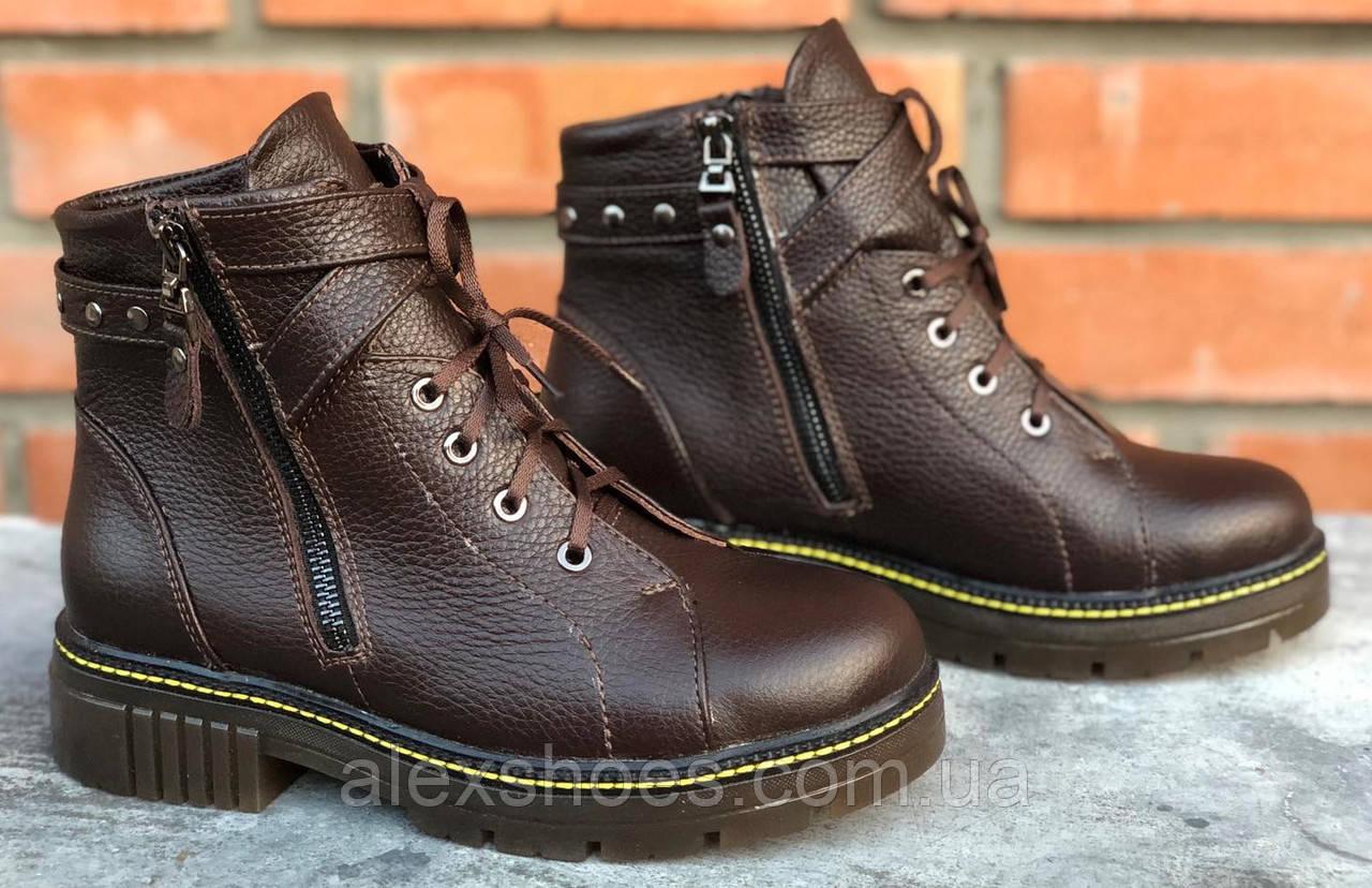 Ботинки молодежные из натуральной кожи от производителя модель ФС315