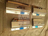 Защитные хром накладки на пороги suzuki grand vitara II (сузуки гранд витара 2005+)