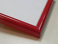 Рамка а4 (210х297).Профиль округлый 14 мм.Красный глянцевый.