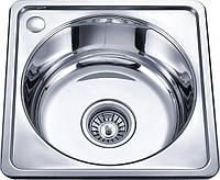 Кухонна мийка врізна з нержавіючої сталі Platinum 4040 Микродекор 0.7