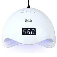 УФ-лампа для маникюра LED+UV SUN-5 48W + ПОДАРОК: Фонарь туристический Police Q5-COB