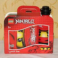 Набор ланчбокс + бутылка для воды Lego Ninjago б/у