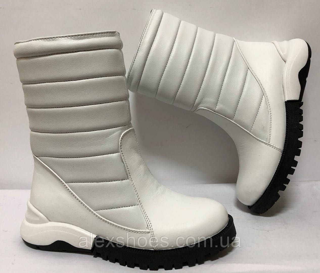 Сапоги дутыши молодежные зима из натуральной кожи от производителя модель ФС318