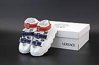 "Сандалии женские Versace Chain Reaction ""Белые"" р. 36-41, фото 1"