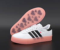 """Кроссовки женские Adidas SambaRose W """"белые с розовым"""" р. 37-39, фото 1"""
