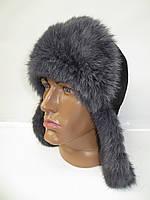 Меховая шапка ушанка мужская из меха кролика