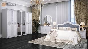 Спальня Луиза 6дв Белый глянец ТМ МироМарк