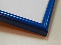 Рамка А4 (210х297).Профиль округленный 14 мм.Синий полуматовій