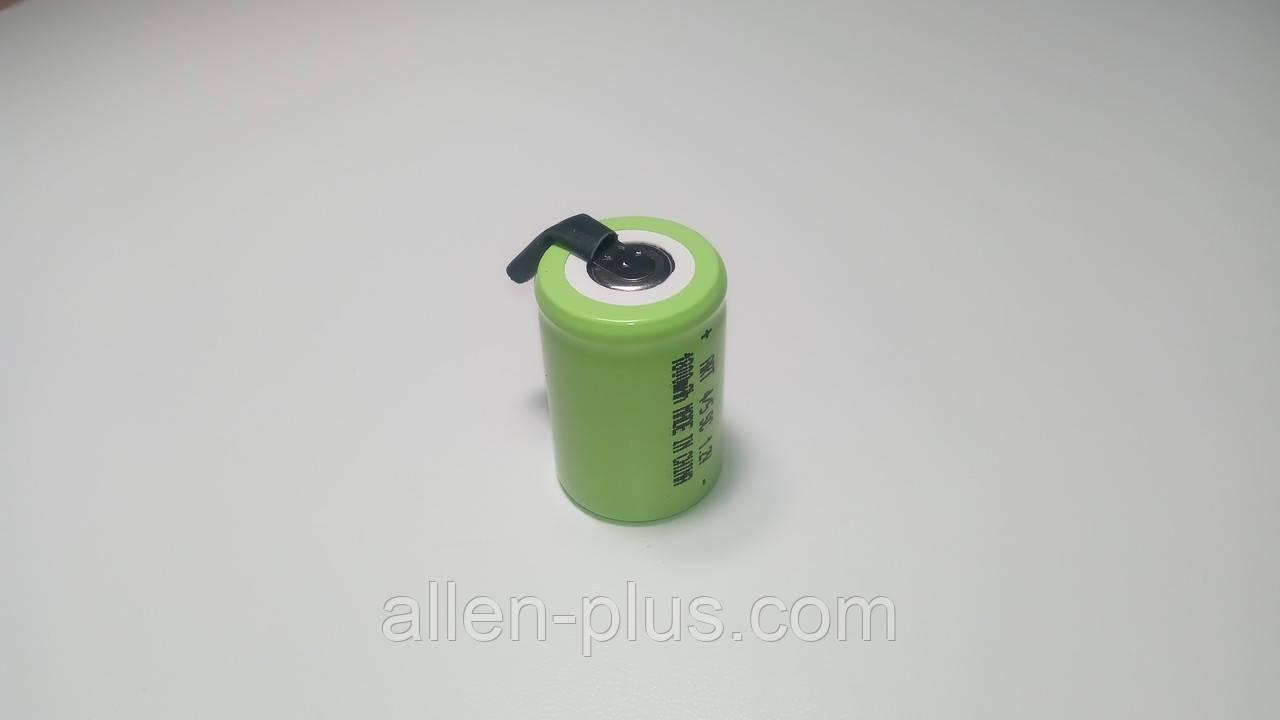 Аккумулятор Ni-Cd 4/5 SC 1.2V 1800 mAh с лепестками, размер 23мм * 34мм (термоусадка)