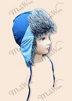 Зимняя шапка ушанка на мальчика 3-9 лет