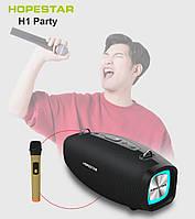 Портативная акустическая стерео колонка Hopestar H1 Party с беспроводным микрофоном и LED подсветкой, фото 1