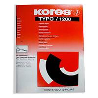 Папір копіювальний А4 TYPO Kores, 10 арк., чорний