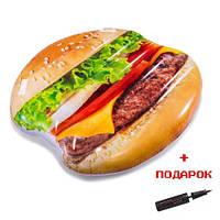 Надувной матрас для плавания Intex 58780 Гамбургер с ручками