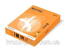 Бумага цветная А4 80 г/м 500л Maestro Color Neon Orange оранжевый