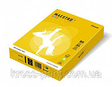 Бумага цветная А4 160 г/м 250л Maestro Color Intensive SY40 Sun Yellow солнечно-желтый