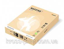 Бумага цветная А4 160 г/м 250л Maestro Color Pastell CR20 Cream кремовый