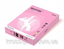 Бумага цветная А4 160 г/м 250л Maestro Color Pastell PI25 Pink розовый