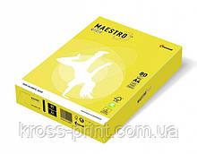 Бумага цветная А4 160 г/м 250л Maestro Color Intensive СY39 Canary Yellow желтый