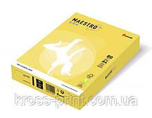 Бумага цветная А4 160 г/м 250л Maestro Color Trend ZG34 Lemon Yellow лимонно-желтый
