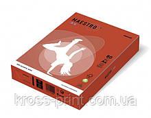 Бумага цветная А4 160 г/м 250л Maestro Color Intensive CO44 Coral Red красный