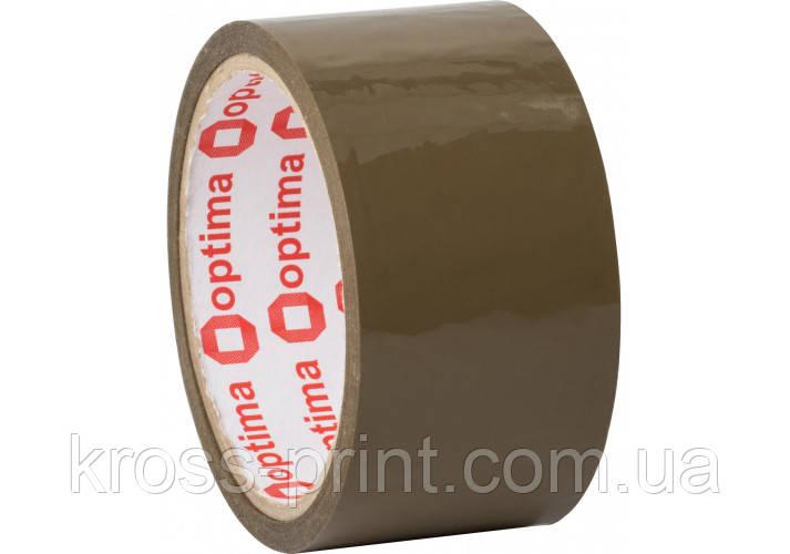 Стрічка клейка пакувальна (скотч) Optima Extra, коричнева, 48мм*35м
