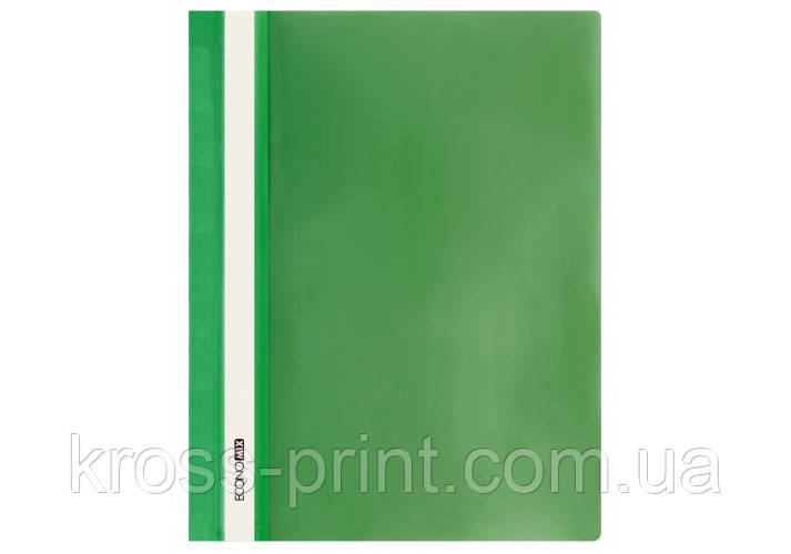 Папка-швидкозшивач глянець А4 без перфорації зелений