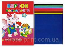 Папір картон кольоровий А4 9л 9 кольорів 10шт/уп