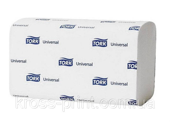 Полотенце бумажное ZZ белое 1cлой 250л Tork Universal 120108 20шт/уп 33870500