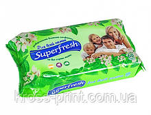 Салфетка влажная 60шт Super Fresh для всей семьи 24шт/уп 42107851