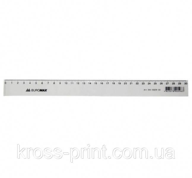 Линейка 30см пластиковая прозрачная ВМ 5829-30 144шт/уп