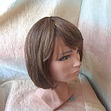 Парик из натуральных волос каре русый микс ERIN- P4/27, фото 2