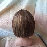 Парик из натуральных волос каре русый микс ERIN- P4/27, фото 3