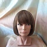 Парик из натуральных волос каре русый микс ERIN- P4/27, фото 5