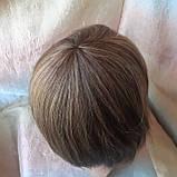 Парик из натуральных волос каре русый микс ERIN- P4/27, фото 7