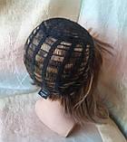 Парик из натуральных волос каре русый микс ERIN- P4/27, фото 8