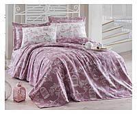 Летнее 2 сп. постельное бельё с вафельным покрывалом (РІКЕ)