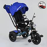 Детский велосипед трехколесный с родительской ручкой и поворотным сиденьем Best Trike 4490 - 2761, синий, фото 7