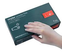 Перчатки виниловые неопудренные Mercator Medical VINYLEX PF L 100 штук Белые (MAS40132)